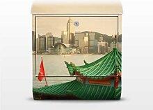 Hongkong 39x46x13cm Briefkasten, Standbriefkasten, Briefkästen, Asien, China, Metropole