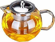 HongLianRiven Glasteekanne Glas-Teekanne,