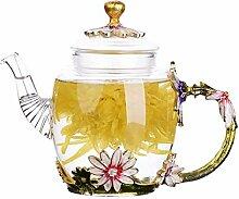 HongLianRiven Glasteekanne Glas-Teekanne Haushalt