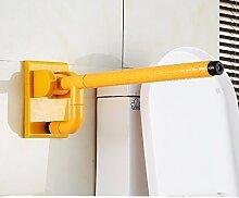 HONGLONG Ältere Menschen barrierefrei Nylon falten Armlehne Gesundheit Waschbecken im Bad, gelb Sicherheit Armlehne