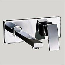 HONGLONG An der Wand montierte Wasserfall weit verbreiteten modernen Design Hahn - Chrom Badezimmer Waschbecken Wasserhahn