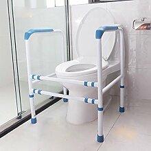 HONGLONG Armlehne Regal ältere Gesundheit Latrinen für schwangere Frauen mit Behinderungen Bad Regal Sicherheit eine Armlehne, blau