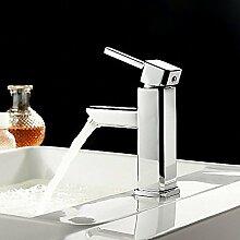 HONGLONG Badezimmer Waschbecken wasserhahn Hochwertige zeitgenössische Centerset einzigen Griff ein Loch in Chrom Waschbecken Wasserhahn Bad Waschbecken Wasserhahn