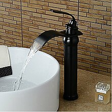 HONGLONG Badezimmer Waschbecken Wasserhahn mit antiken Wasserfall Centerset Wasserhahn Bad Waschbecken Wasserhahn