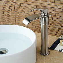 HONGLONG Badezimmer Waschbecken wasserhahn Schiff einzigen Griff ein Loch in Nickel gebürstet Badezimmer Waschbecken Wasserhahn