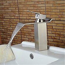 HONGLONG Centerset einzigen Griff ein Loch in Nickel gebürstet Badezimmer Waschbecken Wasserhahn