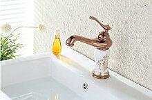 HONGLONG Continental messing Rereo jade Gold Titanium Keramik Waschbecken Waschtisch Armatur
