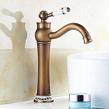 HONGLONG Europa - Stil Rereo Kupfer heißen und kalten Badezimmer Waschbecken Wasserhahn