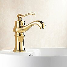 HONGLONG Europa - style Kupfer Wasserhahn Waschtisch Armatur rereo Gold tippen