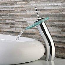 HONGLONG Modernes Glas Waschbecken Waschbecken Wasserhahn