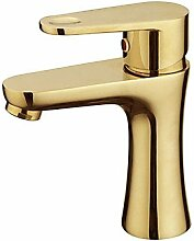 HONGLONG Warpeu® Vergoldet einzigen Griff Countertop Messing Waschbecken Wasserhahn Mixer, Golden