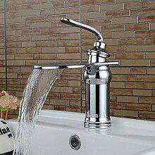 HONGLONG Zeitgenössische Chrom Wasserfall Waschbecken Armaturen
