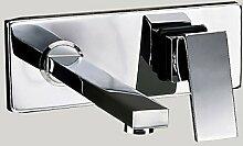 HONGLONG Zeitgenössischen/modernen Wand montiert Wasserfall withBrass Ventil einzigen Griff zwei Bohrungen forChrome, Badezimmer Waschbecken Wasserhahn