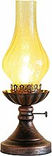 HONGOU Petroleumlampe mit Glasschirm Tischlampe