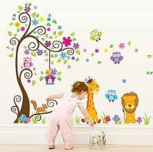 Schablone Wandtattoo Giraffen Kinder Kopf Kinderzimmer Elefant >> 15 ...