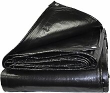 Hongyan Planen-LKW-Planen-Sonnenschutz-Außenfarbton, 180g/m2, Schwarz, verfügbar in Den Verschiedenen Größen (Größe : 8x10m)