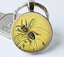 Honigbiene Schlüsselanhänger Honigbiene Cabochon