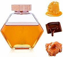 Honiggläser, Honigglas mit Holzdeckel, 473 ml,