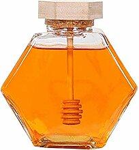 Honigglas mit Dipper und Deckel, 237 ml, Honigtopf