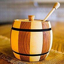 Honigglas mit Stäbchen, 500 ml – Jarware