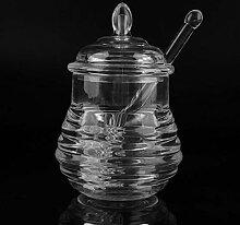 Honigglas mit Tropfer Yichener 245 ml transparent