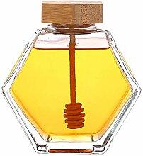 Honigtopf Glas Honigglas, Honigspender,