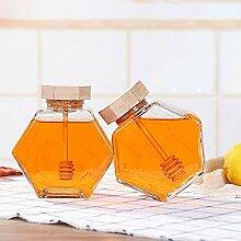 Honigtopf / Honigglas mit Holzlöffel und