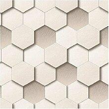 Honigwaben Tapete Farbe: Creme