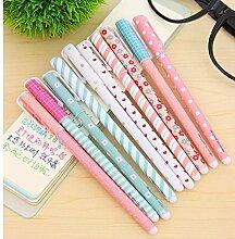 honosu 10PCS Multi Farben Bunt Gel-Tinte Stift