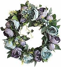HooAMI Deko Kranz Wandkranz Kuenstliche Blumen