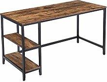 HOOBRO Schreibtisch, Großer Computertisch, 140 x