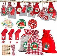 Hook 24 Adventskalender zum Befüllen Kinder