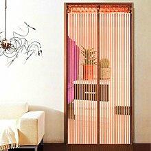 Hoomall Fliegengitter Tür Moskitonetz Tür Insektenschutz Magnet Vorhang Fliegenvorhang für Balkontür Wohnzimmer 90*210cm Kaffeebraun