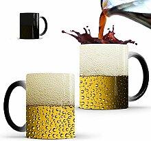 Hooshion Kreativer Bier-Keramikbecher mit