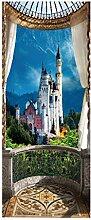 HOPAX Buntes Schloss Türaufkleber Türwandplakate