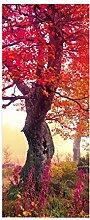 HOPAX Rosa gefallene Blätter Türaufkleber