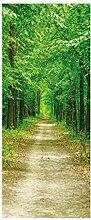 HOPAX Wald Feldweg Türaufkleber Tür Wandplakate