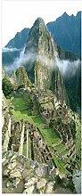 HOPAX Wolken um die Berge Türaufkleber
