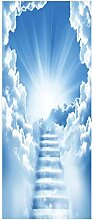 HOPAX Wolkentreppe Türaufkleber Türwandplakate