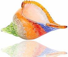Hophen Regenbogen-Murano-Glas-Muschel,