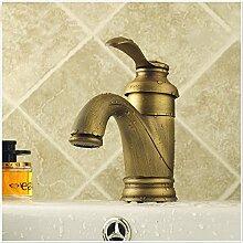HOPO europäischen Kupfer Centerset Single Griff antik messing Waschbecken Wasserhahn Mischbatterie Waschbecken Wasserhahn