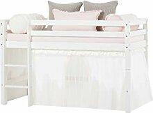 Hoppekids Basic Halbhohes Bett mit Matratzen und