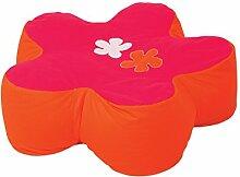 Hoppekids Flower Power Sitzsack blume geformt, 100% Baumwolle ökotex Zertifiziert, Stoff, rosa, 75 x 75 x 23 cm
