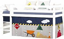 Hoppekids halbhohes Kinderbett Construction mit