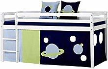 Hoppekids halbhohes Kinderbett Space Astronaut mit