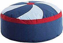 Hoppekids Sitzsack Aeroplane 100% Baumwolle ôkotex Zertifiziert mit abnehmbarem Bezug, Textil, blau, 75 x 75 x 23 cm