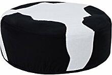 Hoppekids Sitzsack Cowboy 100% Baumwolle ôkotex Zertifiziert mit abnehmbarem Bezug, Textil, schwarz, 75 x 75 x 23 cm