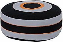 Hoppekids Sitzsack Skater 100% Baumwolle ôkotex Zertifiziert mit abnehmbarem Bezug, Textil, grau, 75 x 75 x 23 cm