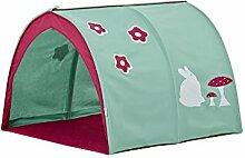 Hoppekids Tunnel / Höhle Forest für Hochbett, Halbhochbett, Spielbett Breite 90 cm, Textil, grün, 90 x 73 x 102 cm