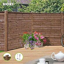 HORI® Holz-Steckzaun GARDO 180 x 180 cm I